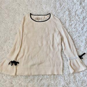 Ann Taylor Loft Sweater Bow Detail